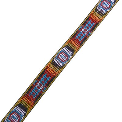 """3 / 4"""" woven braid-hitched trim multicolored (5ft.)"""