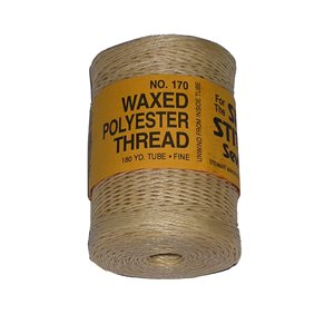 Waxed polyester thread for Speedy natural color (fine) (180 yards)