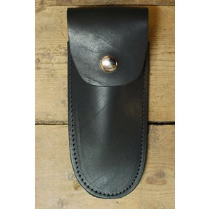 "5"" knife case, black leather, minimum 6"