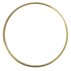 """Anneaux métal 8"""" plaqué or"""