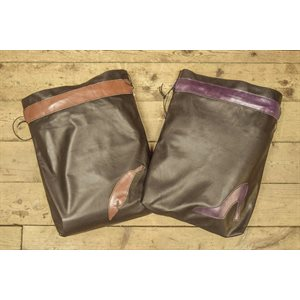 Sac à souliers avec bande décorative et motifs, grande taille, cuir souple LIQUIDATION