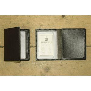 Porte-billets et cartes, cuir noir