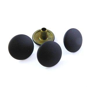 Boutons pression Série 95 (AR) : Tête longue cheminée noir mât (100)
