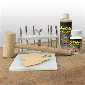 Ensemble d'outils de base pour apprendre à ciseler le cuir végétal naturel!