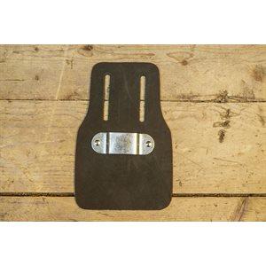 Porte ruban à mesurer 25' fait en cuir avec support de métal, minimum 6