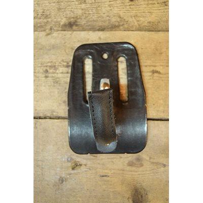 Porte perceuse pratique pour acériculteurs, cuir noir