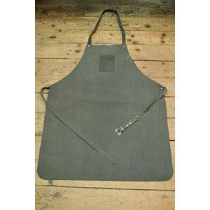 Workman's apron in split suede