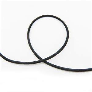 """Élastique rond 2,4mm (3 / 32"""") tressé en nylon noir (mètre)"""