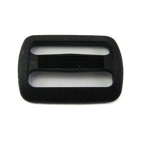 """Passant 1"""" en nylon double fort noir (Min. 12)"""