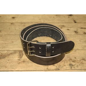 "Worker 2"" belt, 11-13oz black leather"