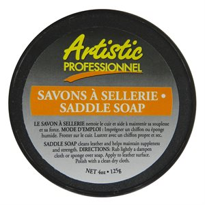 "Savon à selles Artistic ""Saddle soap"" naturel (4 oz - 125 mL)"
