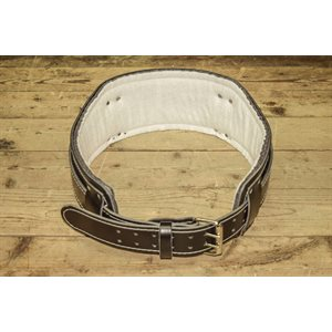 Lumbar belt kit, black leather, medium size, max. 46""